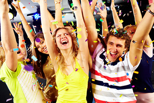 Group of people enjoying in birthday party