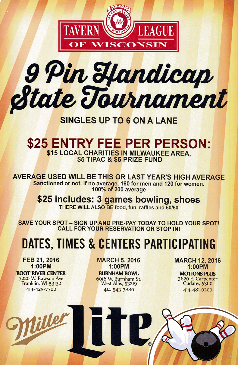 9 Pin Handicap State Tournament