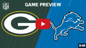 Packers vs. Lions Game Preview