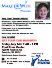Emma Make A Wish Car Wash