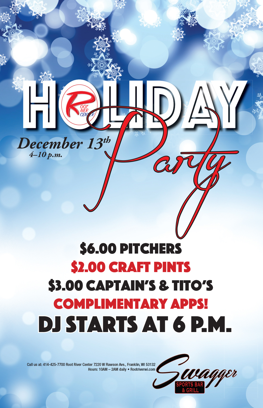 Holiday Party Dec 13th