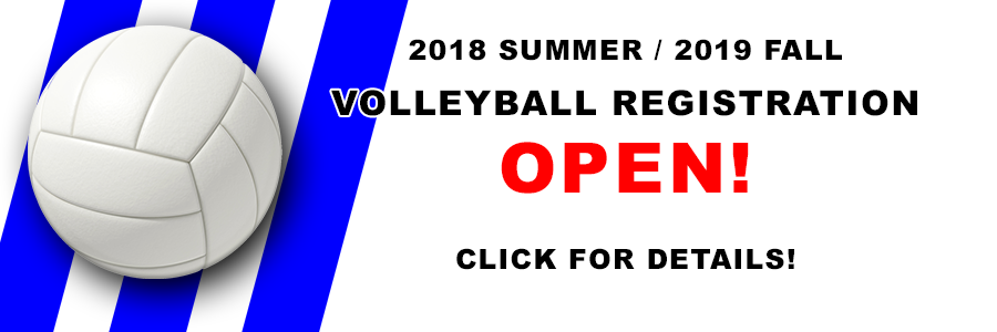 2018 2019 Volleyball Registration Open