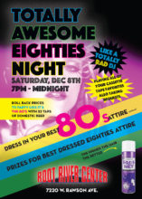 Totally Awesome 80's Night