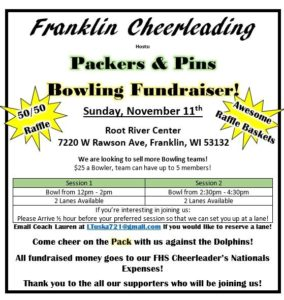 Franklin High School Cheerleading Fundraiser
